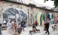 Phung Hung mural street features old Hanoi
