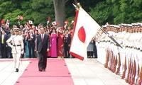 Japanese media highlights welcome ceremony for Vietnamese President