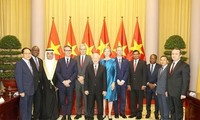 Party, State leader welcomes newly-accredited foreign ambassadors