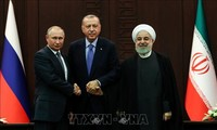 Russia, Iran, Turkey adopt joint statement on Syria