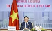 Vietnamese, Chinese top legislators hold online talks