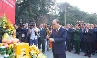 阮春福出席玉回-栋多大捷230周年纪念仪式并上香