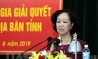 越共中央民运部部长张氏梅:在解决复杂案件过程中 人民利益要放在首位