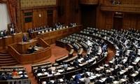 日本选民参加参议院选举投票