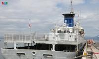 日本海上自卫队军舰抵达岘港国际港