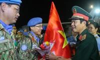 越南一号二级野战医院完成在南苏丹的维和任务回国