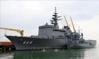 日本海上自卫队两艘军舰访问岘港