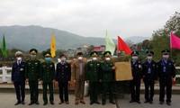 越南莱州省向中国防疫力量捐赠口罩和消毒酒精