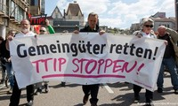Demonstrations in Europe in protest against TTIP