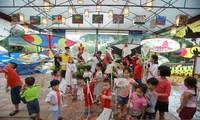 Summer activities for children at Van Lake - Hanoi's Temple of Literature