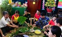 Soldiers on  DK1 Platform welcome Lunar New Year