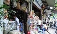 Lan Ong-la calle de medicina oriental en Hanoi