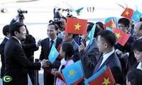 Presidente de Vietnam visita República de Kazajstán
