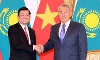 Culmina la visita del presidente vietnamita a Kazajstán