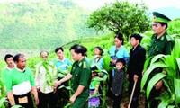 Guardafronteras participan en fomento rural