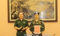 Vietnam envía más oficiales a operación de mantenimiento de la paz de la ONU