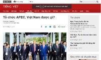La opinión internacional aprecia el papel anfitrión de Vietnam en el APEC 2017