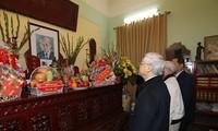Máximo dirigente partidista de Vietnam rinde homenaje a líderes precedentes del país