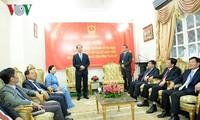 Presidente vietnamita visita Embajada nacional en Egipto