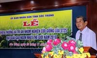 Soc Trang honra al grupo creador del ST25, mejor variedad arrocera del mundo