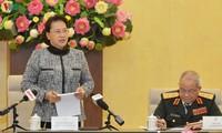 Dirigente legislativa de Vietnam reitera atención especial a personas con méritos revolucionarios