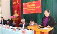 Vicepresidenta del Parlamento vietnamita se reúne con votantes de Son La