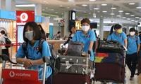 Equipo de fútbol femenino de Vietnam llega a Australia para el partido de play-off de los Juegos Olímpicos 2020