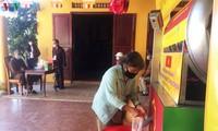 """""""Cajeros de arroz"""" habilitados para evitar el hambre durante la cuarentena del coronavirus"""