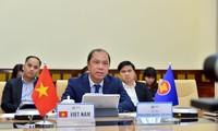 Celebran videoconferencia de altos funcionarios de la Asean