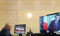 Líderes de Rusia y Francia dialogan en línea