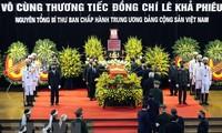 Más mensajes de condolencia por el fallecimiento de Le Kha Phieu