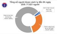 Vietnam no reporta nuevos casos del covid-19 en la mañana del 25 de agosto