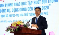 Viceprimer ministro de Vietnam llama a estimular el estudio durante toda la vida