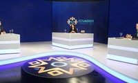 Celebran debate presidencial entre candidatos finalistas a las elecciones presidenciales 2021 en Ecuador