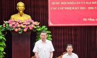 Dirigente vietnamita inspeccionan preparativos electorales en Da Nang