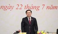 Efectúan conferencia de prensa tras la votación de los jefes de organismos del Parlamento de Vietnam