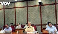 Máximo dirigente partidista preside reunión sobre desarrollo socioeconómico en 2021