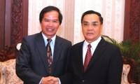 ส่งเสริมความร่วมมือระหว่างท้องถิ่นต่างๆของลาวกับเวียดนาม