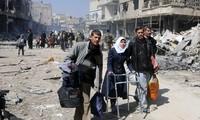 กลุ่มกบฎซีเรียเจรจากับคณะเฉพาะกิจของสหประชาชาติเกี่ยวกับคำสั่งหยุดยิงในตัวเมือง Ghouta ตะวันออก