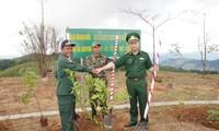 โครงการปลูกต้นไม้มิตรภาพ ณ หลักพรมแดนในสามแยกชายแดนเวียดนาม ลาว กัมพูชา
