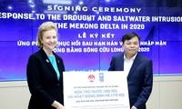 UNDPให้การช่วยเหลือเงิน ๑๘๕,๐๐๐ ดอลลาร์สหรัฐแก่จังหวัดที่ประสบภัยแล้งและปัญหาน้ำทะเลซึม