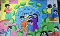 เด็กๆในนครเกิ่นเทอกับภาพวาดในสถานการณ์การแพร่ระบาดของโรคโควิด-19