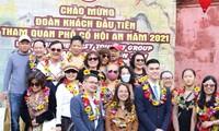 ฮอยอันต้อนรับกลุ่มนักท่องเที่ยวกลุ่มแรกในปี 2021