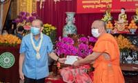 รองนายกรัฐมนตรี เจืองหว่าบิ่งห์ เยี่ยมและอวยพรชาวเขมรที่นับถือศาสนาพุทธในนครโฮจิมินห์ในโอกาสตรุษเต๊ต