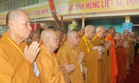 Buddhists pray for peace in East Sea