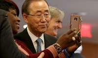 Departing UN Chief Ban Ki-moon bids farewell to colleagues