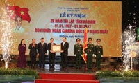 Ha Nam province celebrates 20 years of re-establishment