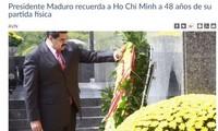 Venezuelan President praises President Ho Chi Minh