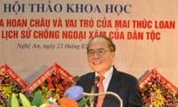Parlamentspräsident Nguyen Sinh Hung besucht die Provinz Ha Tinh