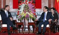 Staatspräsident Truong Tan Sang empfängt den norwegischen Kronprinzen Haakon